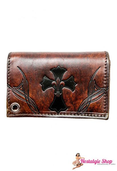 Running Bear Portemonnaie - antik Tribal Biker Wallet - klein
