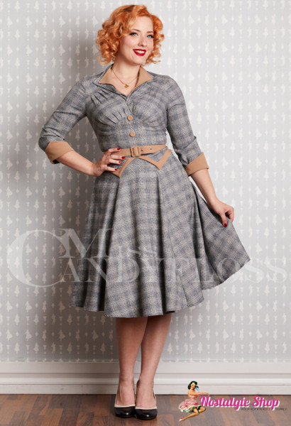 Miss Candyfloss Juniper-Silver Swingkleid