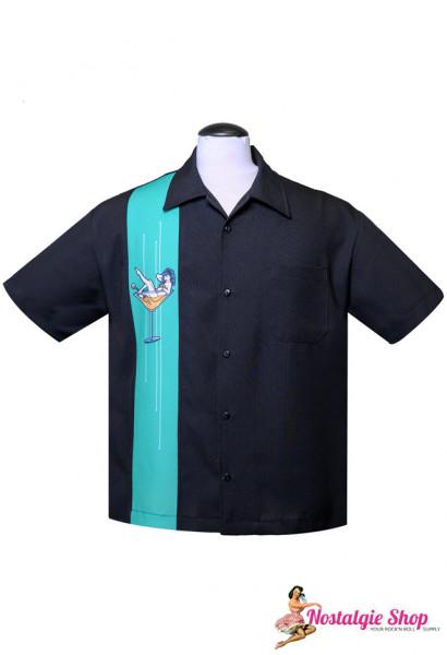 Steady Retro Bowling Shirt - Martini Girl