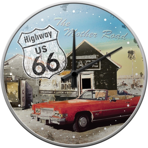 Nostalgic Art Wanduhr Highway 66 The Mother Road
