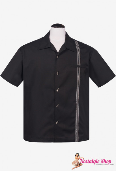 Steady Bowling Shirt - The Six String Schwarz