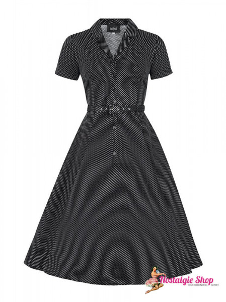 Caterina Mini Polka Dot Swing Kleid von Collectif
