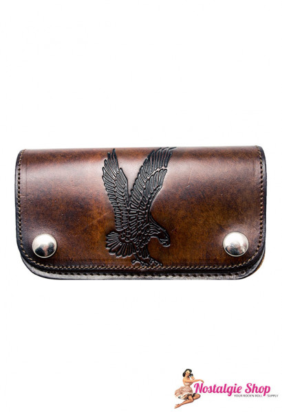 Running Bear Portemonnaie - antik Adler USA Wallet with Chain