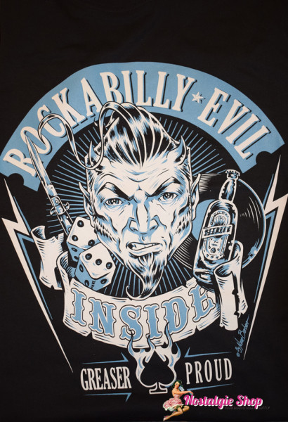Nano Barbero T-Shirt - Rockabilly Evil Inside