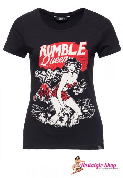 "Queen Kerosin Damen T-Shirt ""Rumble in the Jungle"" - schwarz"