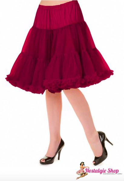 Petticoat Lang - weinrot
