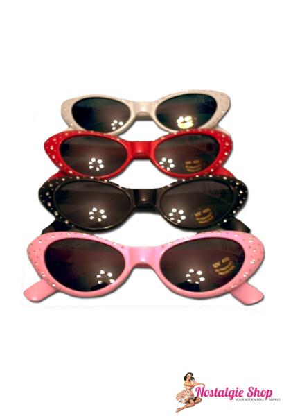 Sonnenbrille mit Strass - rund
