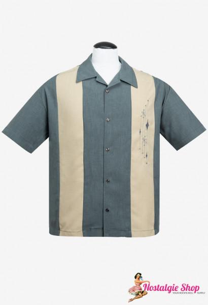 Bowling Shirt - Mid Century Marvel Grau