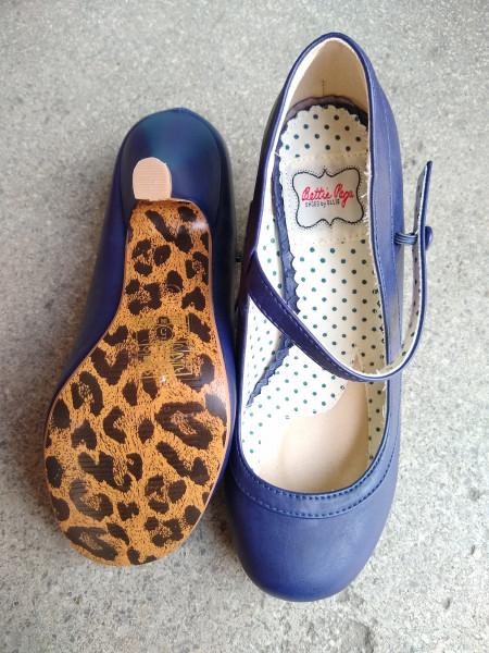 Betty Page Riemchenpumps - rot oder blau