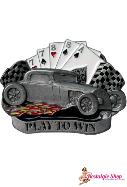 Tanside UK Buckle - Play to Win Hot Rod Poker Gürtelschnalle
