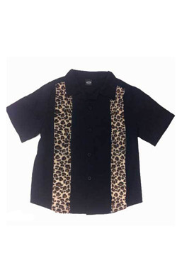 Work Shirt mit Leopardenmusterstreifen