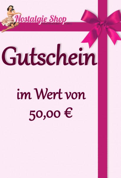 Nostalgieshop Gutschein - 50 Euro