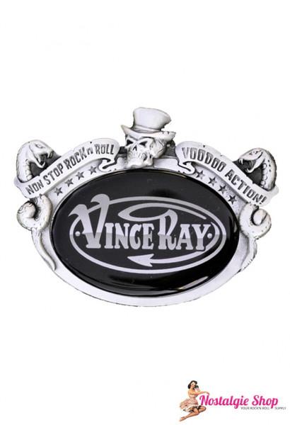 Vince Ray Buckle - Vince Ray Logo Rockabilly Gürtelschnalle