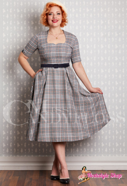 Tatum-Lee Swing-Dress mit Karo Miss Candyfloss Hamburg