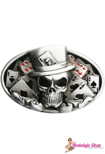 Running Bear Buckle - Poker Skull Casino King Gürtelschnalle