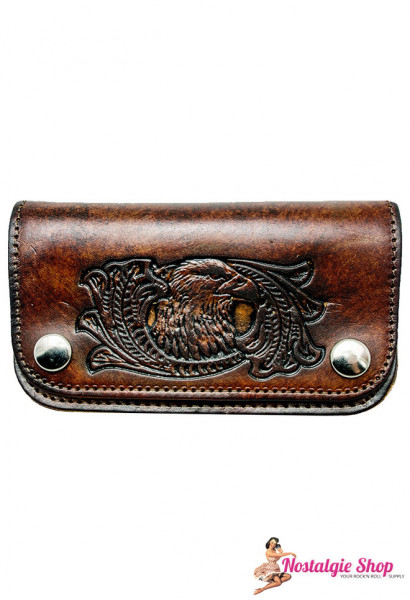 Running Bear Portemonnaie - made in the USA - antik Adler Wallet with Chain