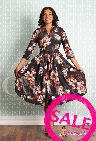 Miss Candyfloss Amarina-Umber Swingkleid