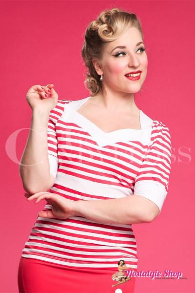 """Miss Candyfloss Sailortop """"Ashlie-Rose"""" - Einzelstück in M"""