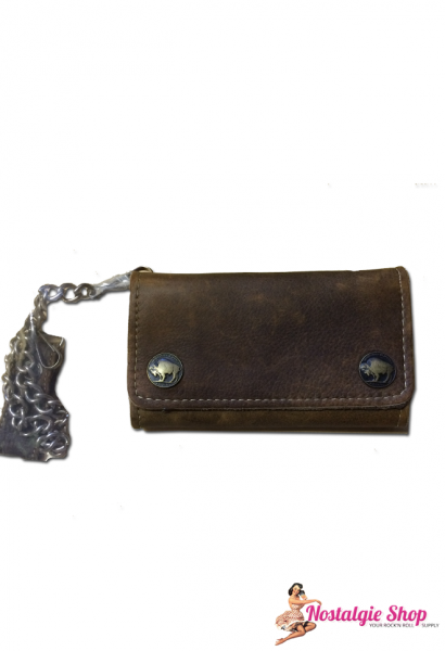 Running Bear Portemonnaie - Büffel Biker Wallet with chain