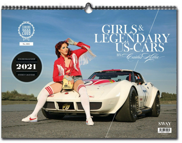 Carlos Kella Girls and Legendary Cars Kalender 2021