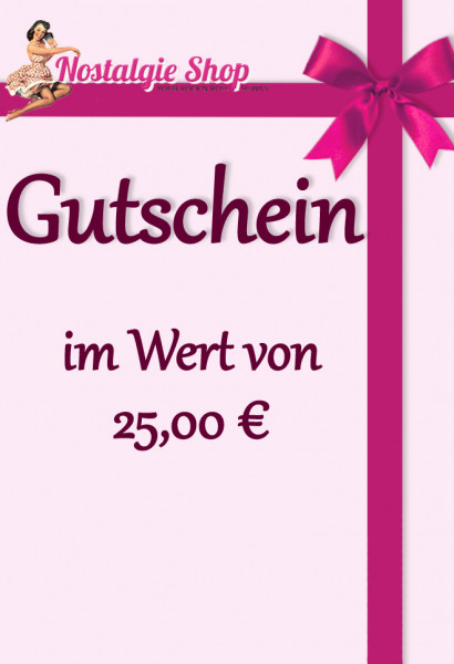 Nostalgieshop Gutschein - 25 Euro
