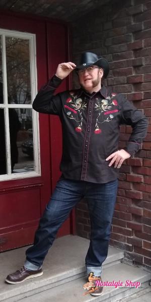 "King Kerosin Westernhemd ""Rodeo"" - mit Stickerei"