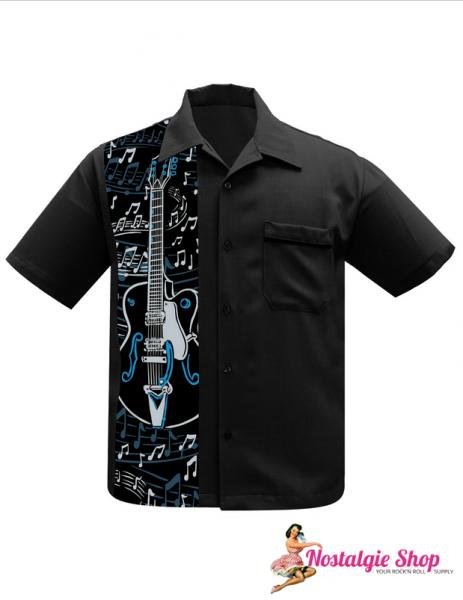 Steady Bowling Shirt - Guitar Panel