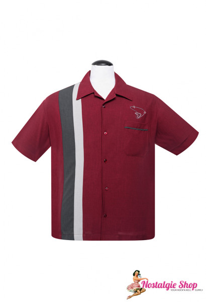 Steady Retro Bowling Shirt The Boomer Ruby Das 50er Rockabilly Shirt
