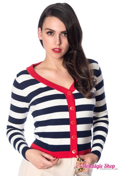 Banned Cardigan - Sail Away Stripe