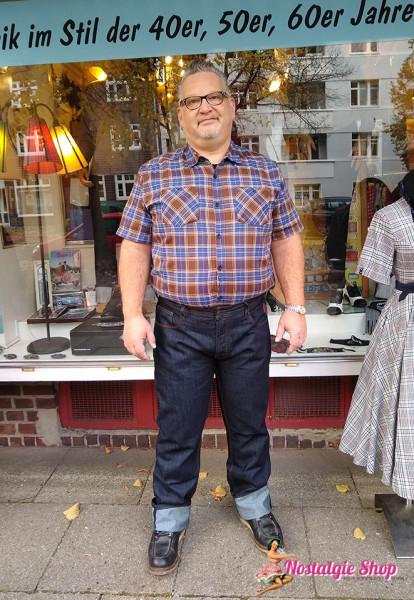 KK Robin Dark Blue Hot Rod Rockabilly Jeans