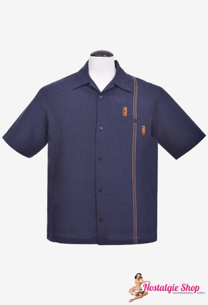 Bowling Shirt - Tiki Retro Stitch