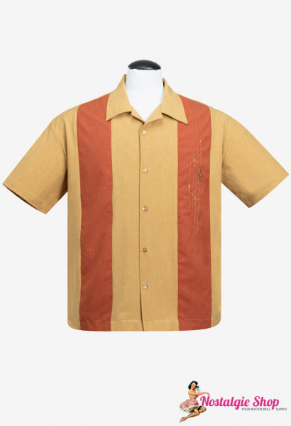Steady Bowling Shirt - Mid Century Marvel Senf