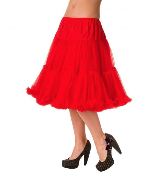 Banned Petticoat lang - rot