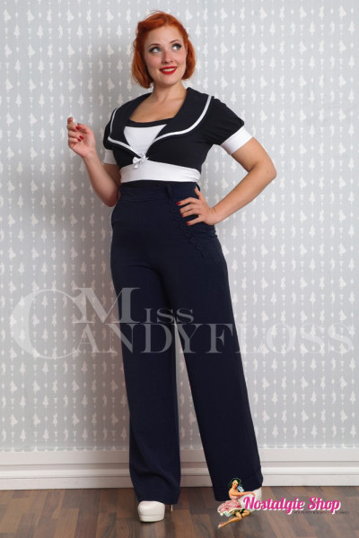 "Miss Candyfloss ""Nicolette-Lee"" High Waist Stretchhose - navy"