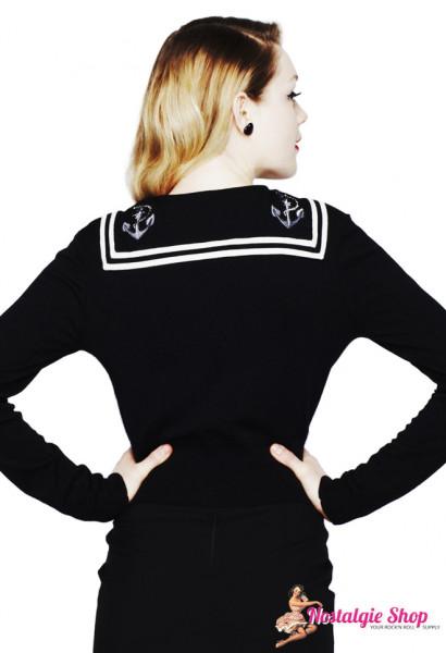 Cardigan - Sailor schwarz