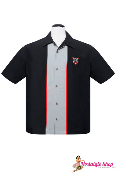 Steady Bowling Shirt - V8 Piped Center