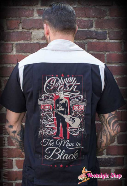 Rumble 59 Bowling Shirt - Man in Black Vintage Cash
