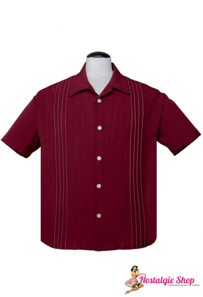 Steady Bowling Shirt - The Otis Ruby
