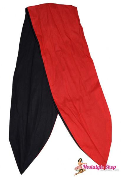 Tiki Haarband mit Draht - schwarz/rot