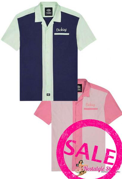 Dickies Bowling Shirt Pulaski - blau oder rosa