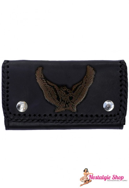 Running Bear Portemonnaie - 3D Adler BikerWallet with Chain