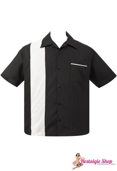 Bowling Shirt - Pop Check Single Panel schwarz