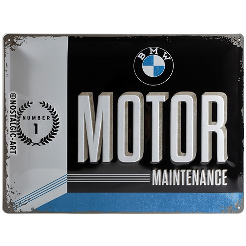 Blechschild 30 x 40 BMW Motor Maintenance