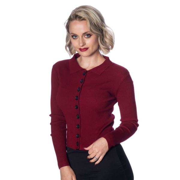 Banned Rochelle Rib Collar Cardigan