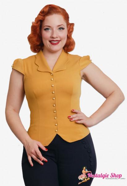 Isadora-Mustard Bluse - Einzelstück