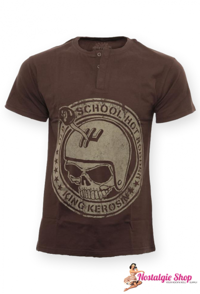 KK Old School Hot Rodder T-Shirt in braun