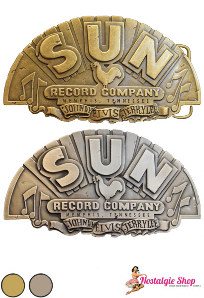 Rumble 59 Buckle - Sun Records gold oder silber