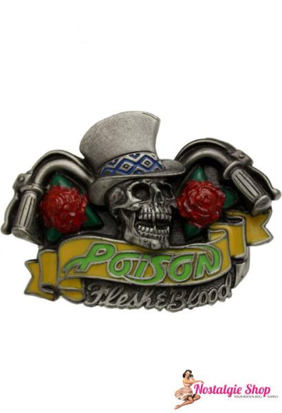 Running Bear Buckle - Poison Skull Gürtelschnalle