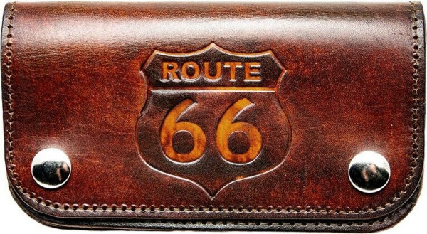 Running Bear Portemonnaie - Route 66, US Car und Biker Wallet