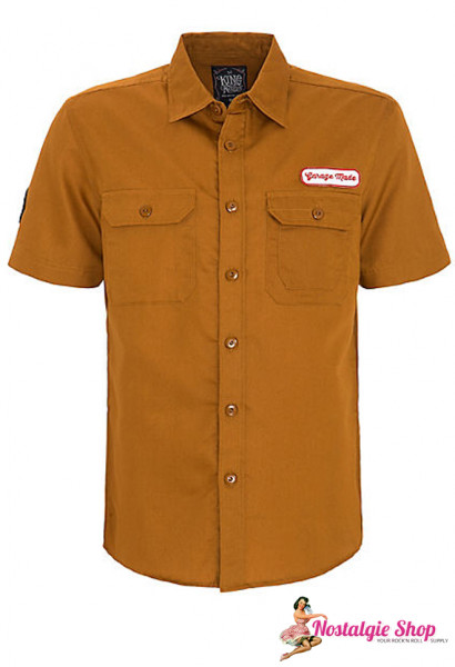 "King Kerosin Workshirt mit Rückenstickerei ""Speedway Kings"""